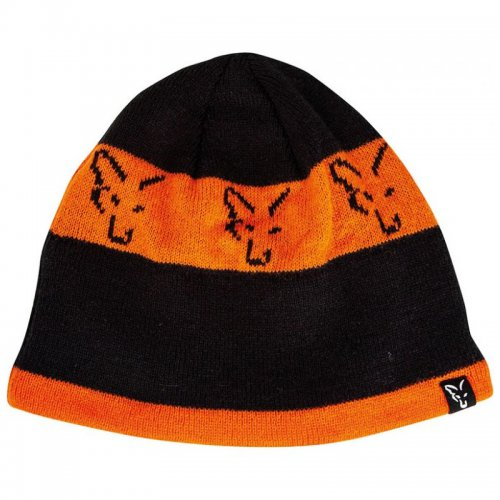 Fox Black Orange Beanie