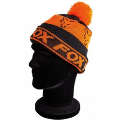 Fox Black & Orange Lined Bobble