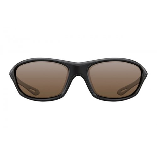 Korda Sunglasses Wraps  - Gloss Black Frame / Brown Lens